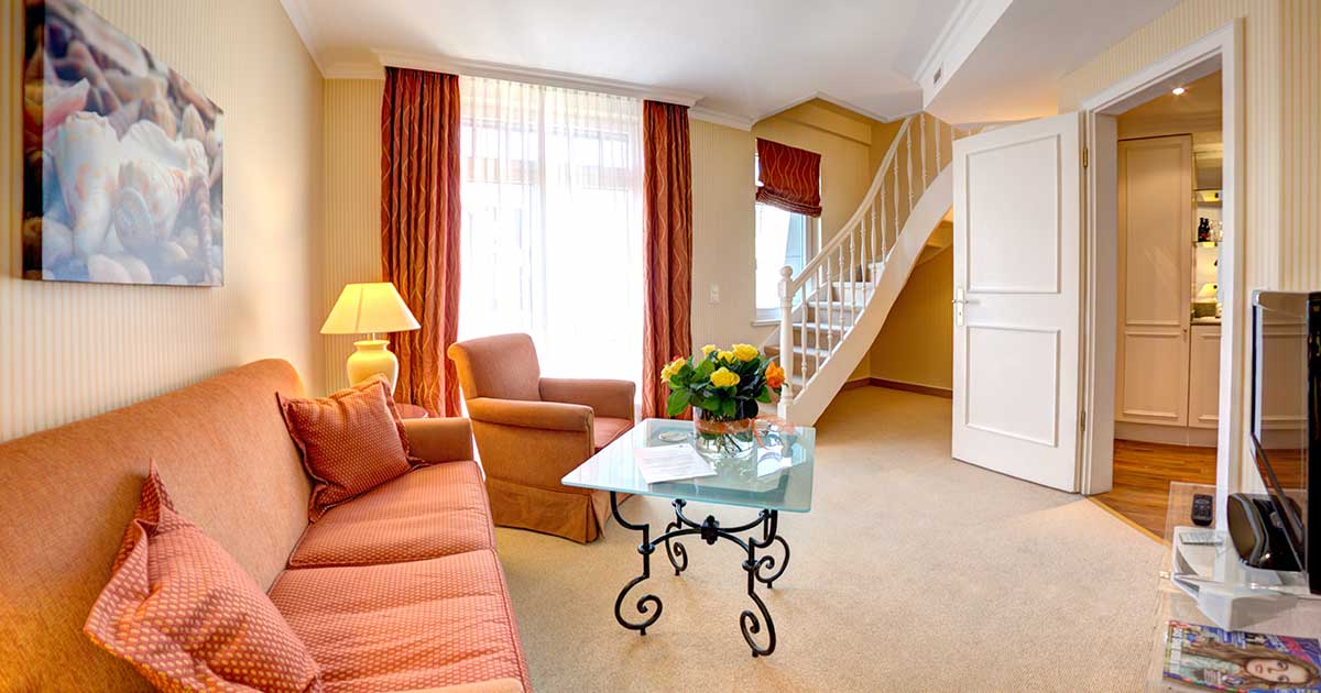 hotel sylt westerland strandhotel sylt maisonette suite. Black Bedroom Furniture Sets. Home Design Ideas