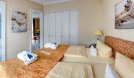 Strandhotel Sylt Suite mit Meerblick Schlafzimmer
