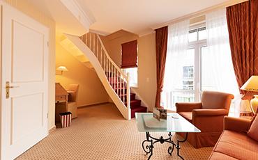 Hotelzimmer Strandhotel Sylt Maisonette Suite