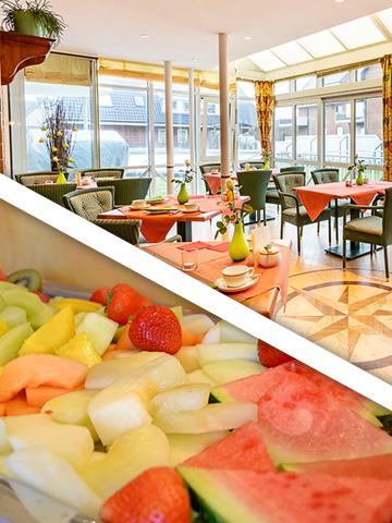 Frühstück im Strandhotel Sylt